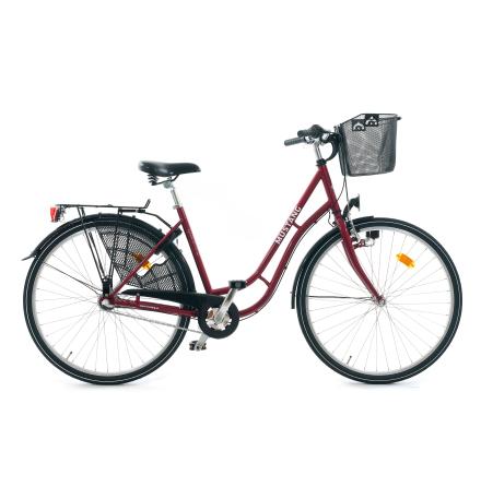 Klassisk Damcykel 3-vxl, Vinröd
